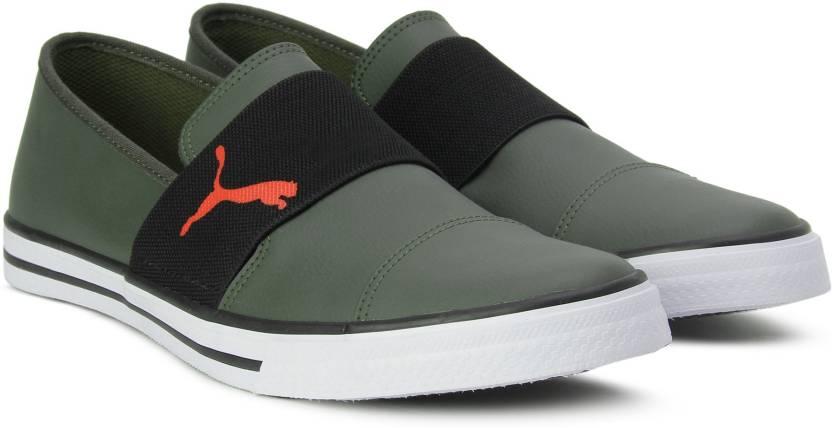 f232f4d99745 Puma Alpha Slip on SL IDP Sneakers For Men - Buy Olive Night-Puma ...