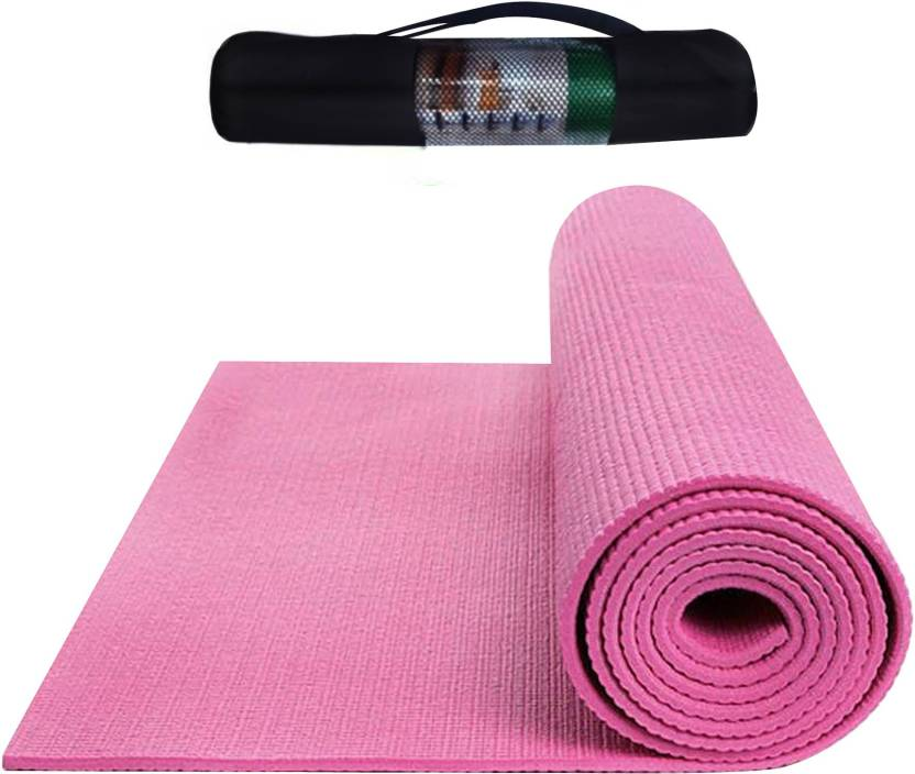 mat i yoga pvc home buy india yogamat mats pink zoom in online