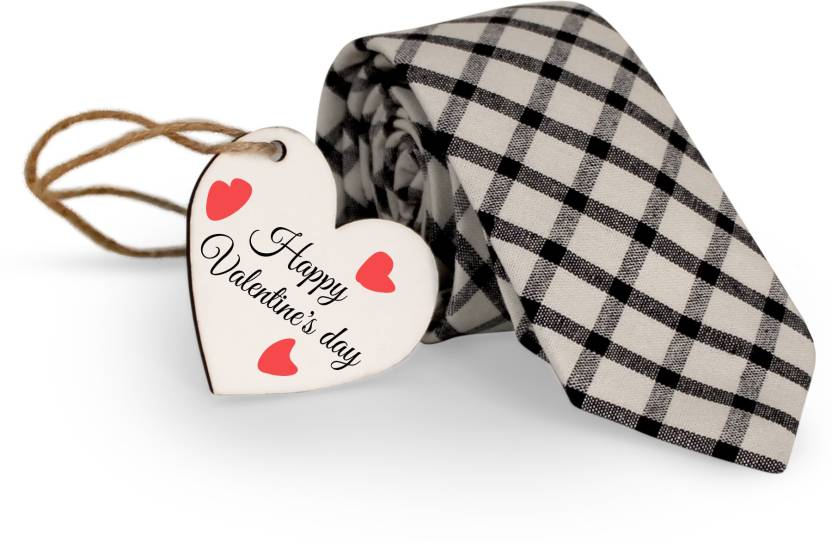 Tied Ribbons Men S Tie With Wooden Tag Valentine S Day Gifts For