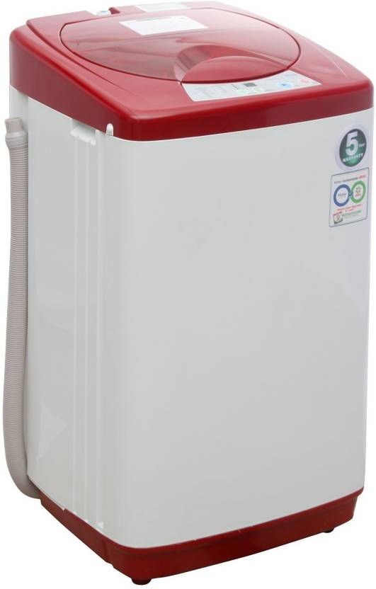 Haier 5 8 kg Fully Automatic Top Load Washing Machine Red
