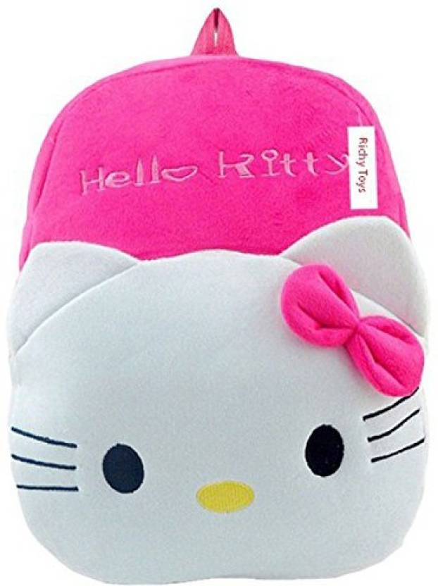 Rehmat Hello Kity Cute Kids Plush Backpack Cartoon Toy Children s Gifts  Boy Girl Baby Student Bags Decor School Bag For Kids School Bag (Pink