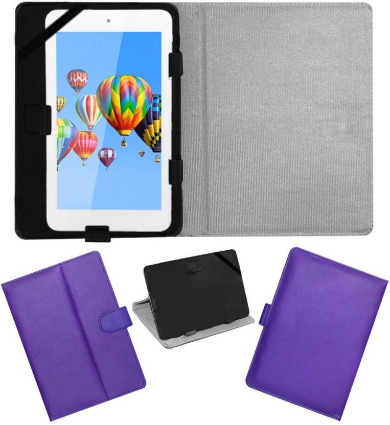 ACM Flip Cover for Digiflip Pro Et701 Tab Purple, Cases with Holder