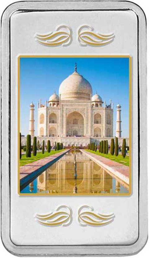 Kundan Colour Taj Mahal S 999 20 G Silver Bar Price In India Buy