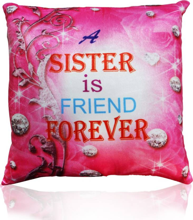 380888a3c5046 Akshat Best Sister Quote Printed Pink Cushion Cover 11 X 11 INCH - Gift for  Sister on her Birthday & Anniversary - 11 inch (Pink)
