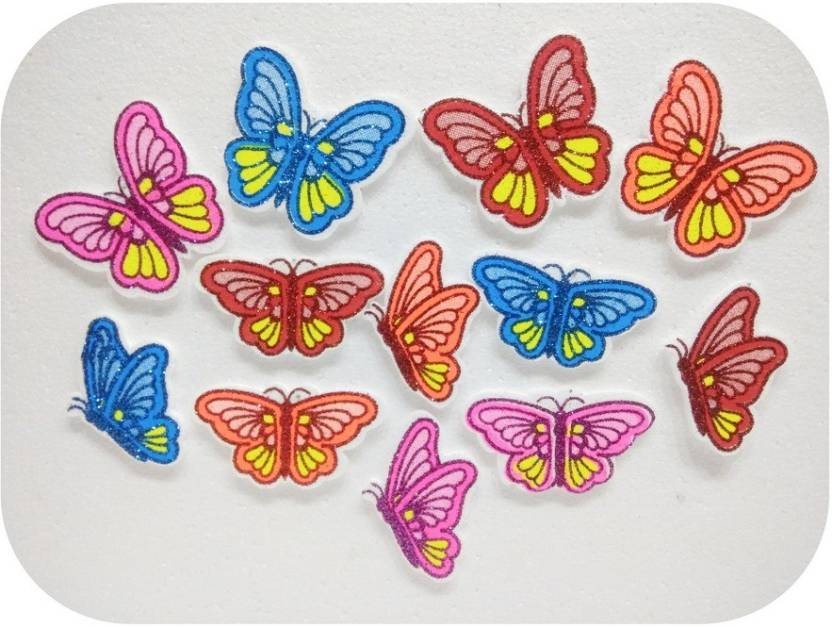 Shreeji Decoration 12 Pc Thermcol Butterfly Art Craft Decorations