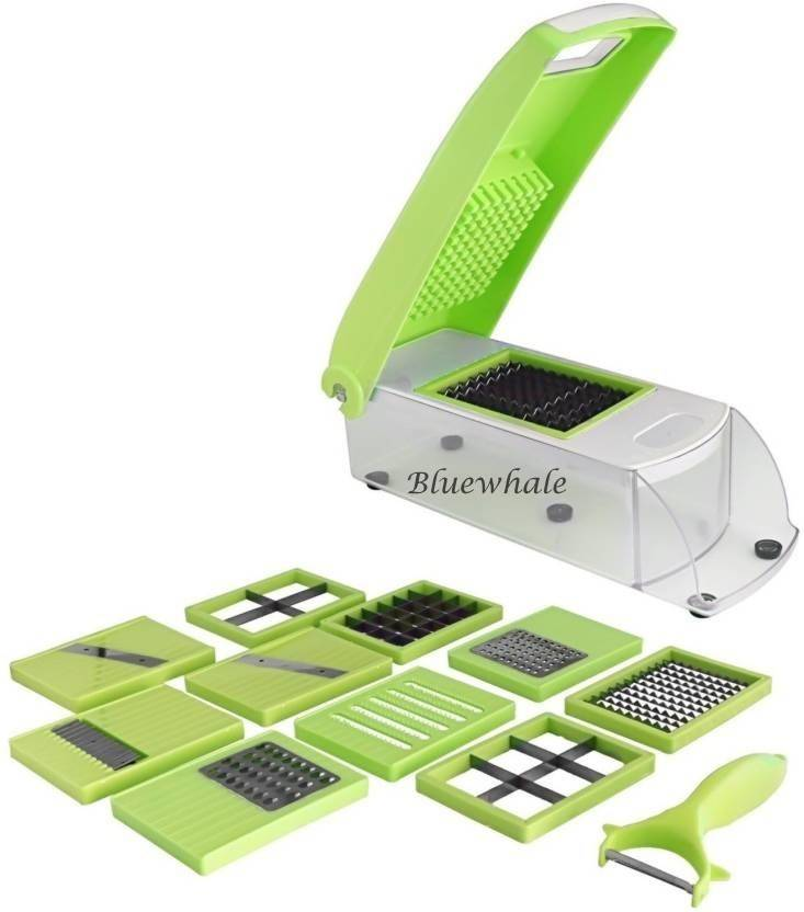 Bluewhale New Fruits & vegetables 12 in 1 Chopper Chopper  (Green)