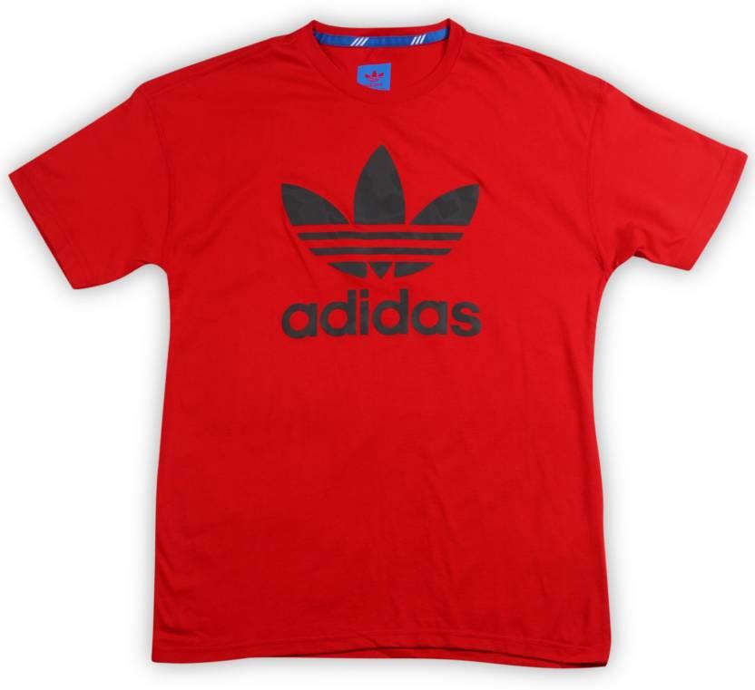 c2d91ced ADIDAS ORIGINALS Boys & Girls Printed Cotton T Shirt Price in India ...