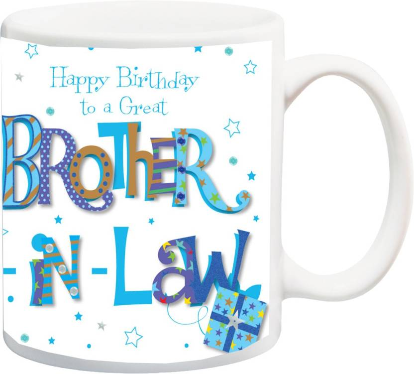 MEYOU Gift For Brother On Birthday HappyBirthday To A Great In Law IZ17JPMU 906 Printed Ceramic Mug 325 Ml