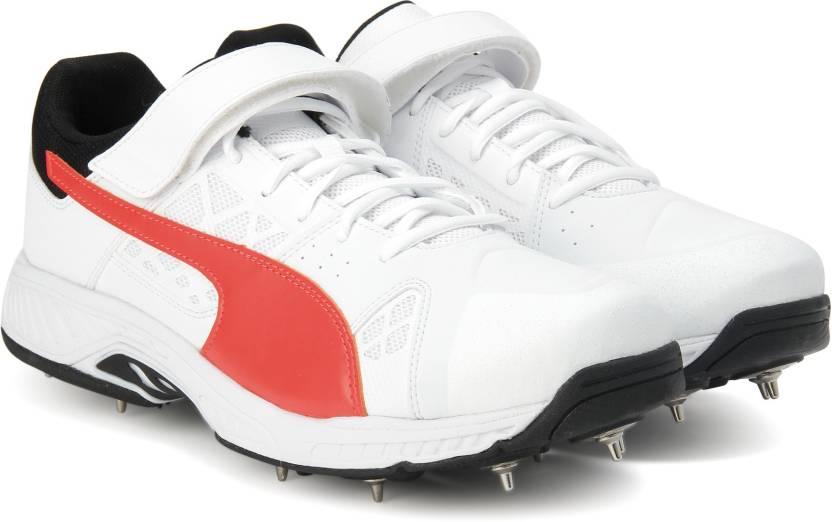 95750d8fb5e9 Puma evoSPEED Cricket B Cricket Shoes For Men - Buy Puma White-Fiery ...