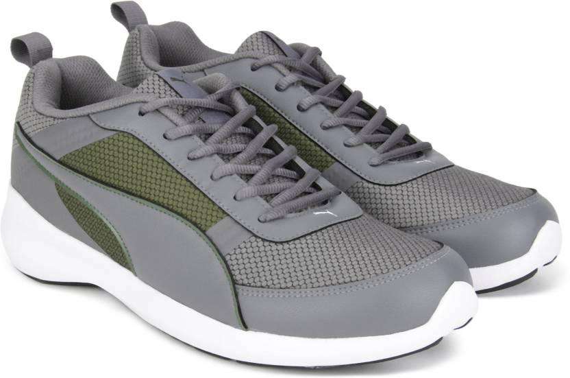 Puma Zen Evo IDP Running Shoes For Men - Buy Olive Night-QUIET SHADE ... 7ebf55e8b