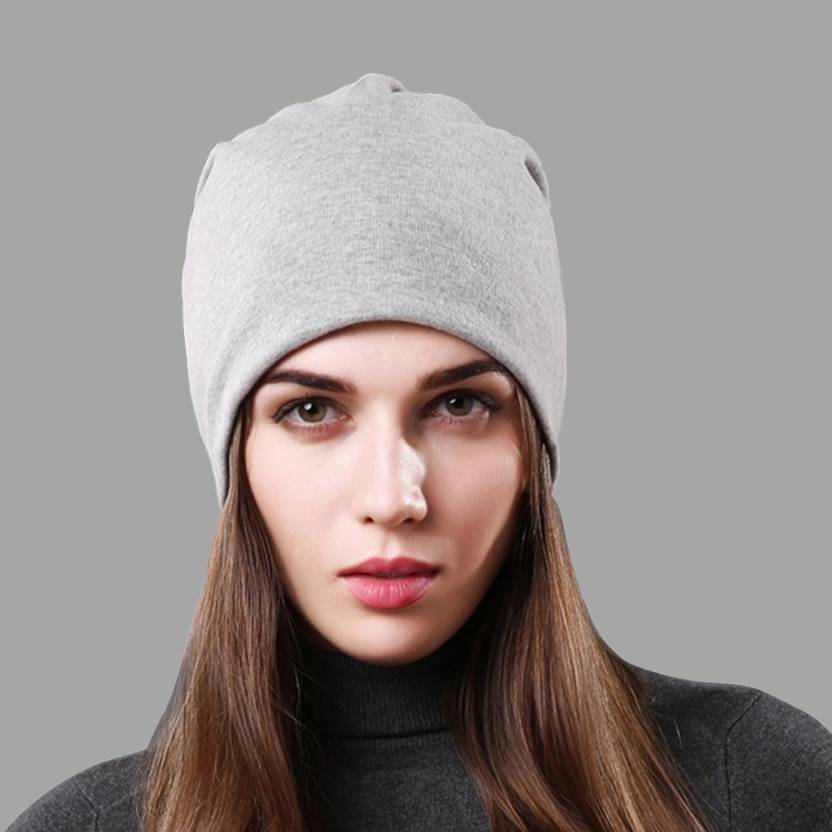 HOZIE Fashionable And Trendy Look Grey Beanie Stretchable Cap - Buy HOZIE  Fashionable And Trendy Look Grey Beanie Stretchable Cap Online at Best  Prices in ... 3d0b00bce0b7