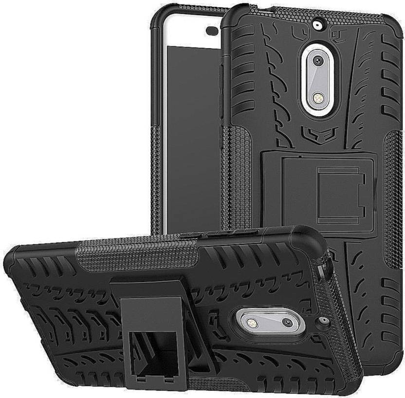 ARCMOBI Back Cover for Nokia 2(DAZZLE QUALITY) (Black, Cases with Holder, Plastic)