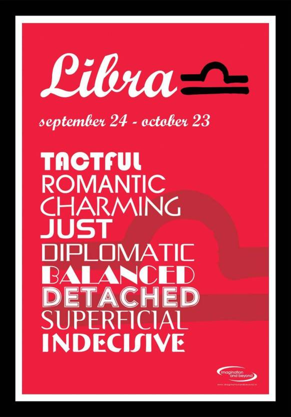 AND Libra Wall Poster 13*19 inches Matte Finish Paper Print - Quotes