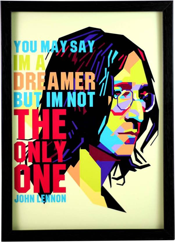 And John Lennon The Beatleswall Poster 1319 Inches Matte Finish