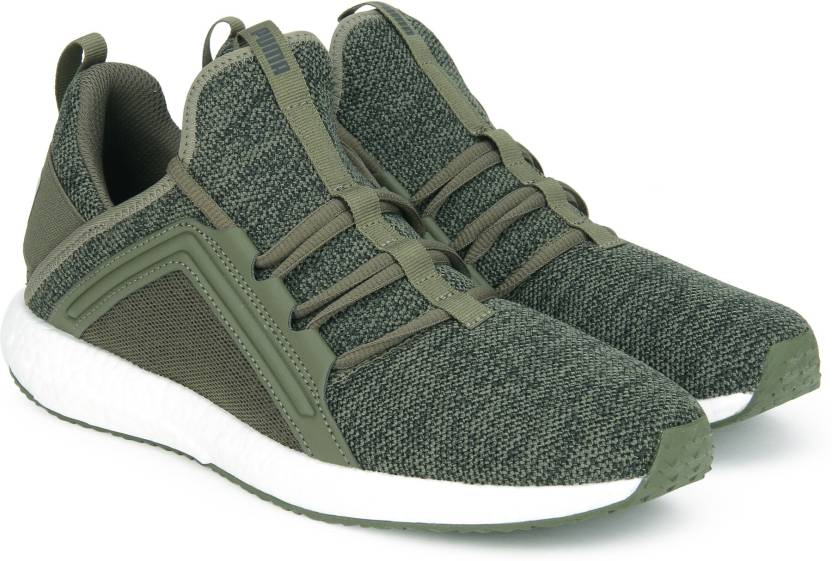 bb405a8f3ec95c Puma Mega NRGY Knit Running Shoes For Men - Buy Olive Night-Puma ...