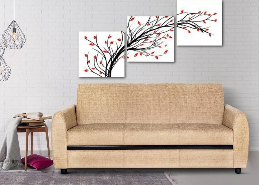 Urban Living Seattle Fabric 3 Seater Sofa