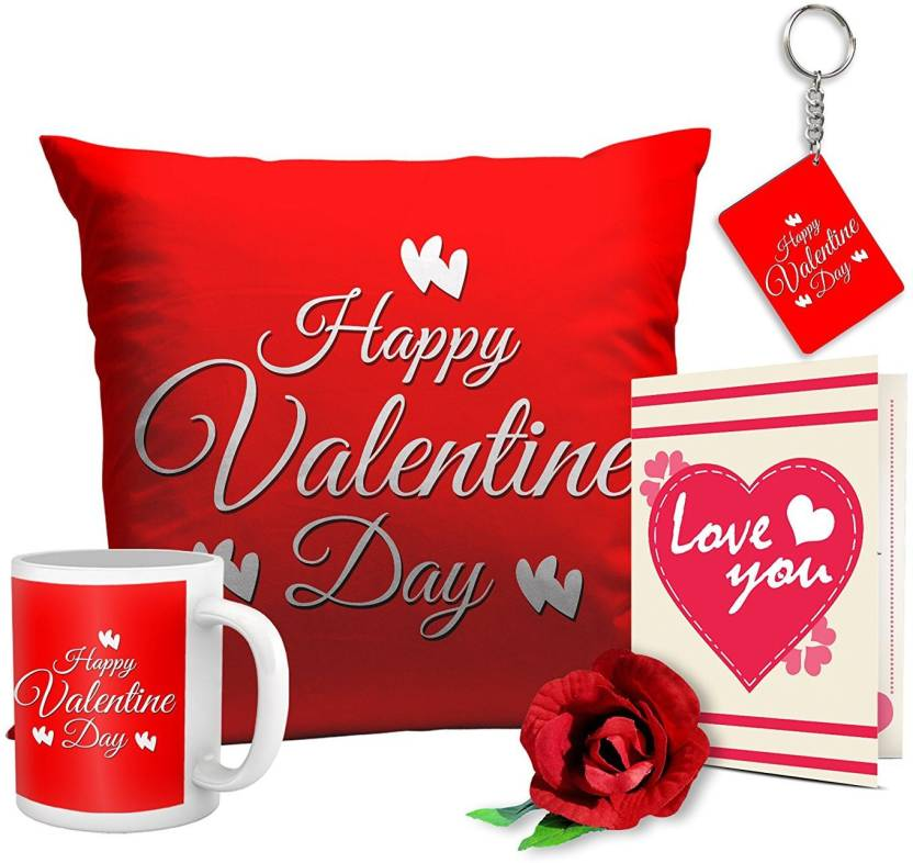 Tied Ribbons Valentines Day Best Gifts for girlfriend husband wife lover Boyfriend Combo Pack(Cushion