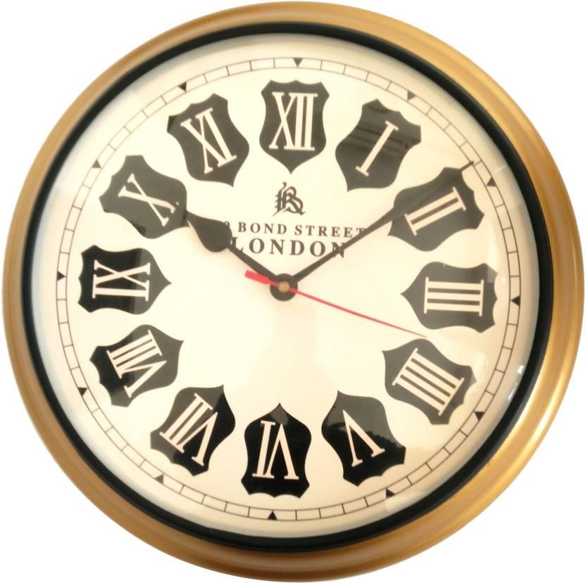 Artshai 12 Inch Vintage Style Wall Clock Copper Colour Analog Wall