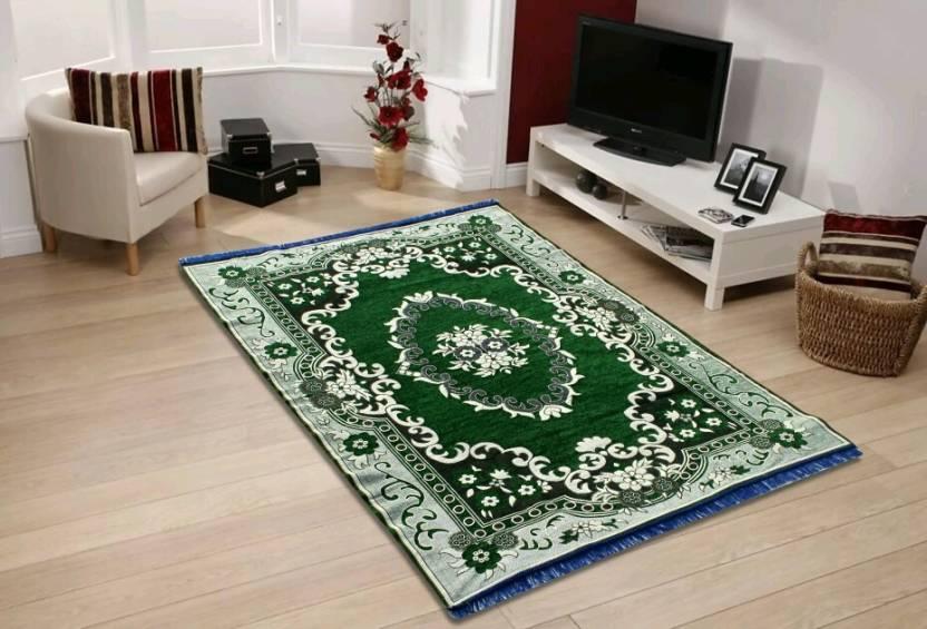 Classy Green Velvet Carpet