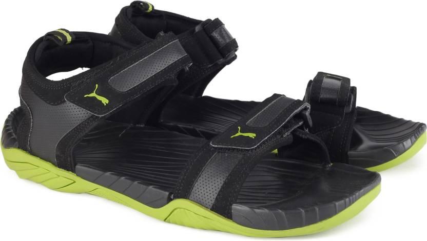 2832cb32fb06 Puma Men Puma Black-Limepunch Sports Sandals - Buy Puma Black ...