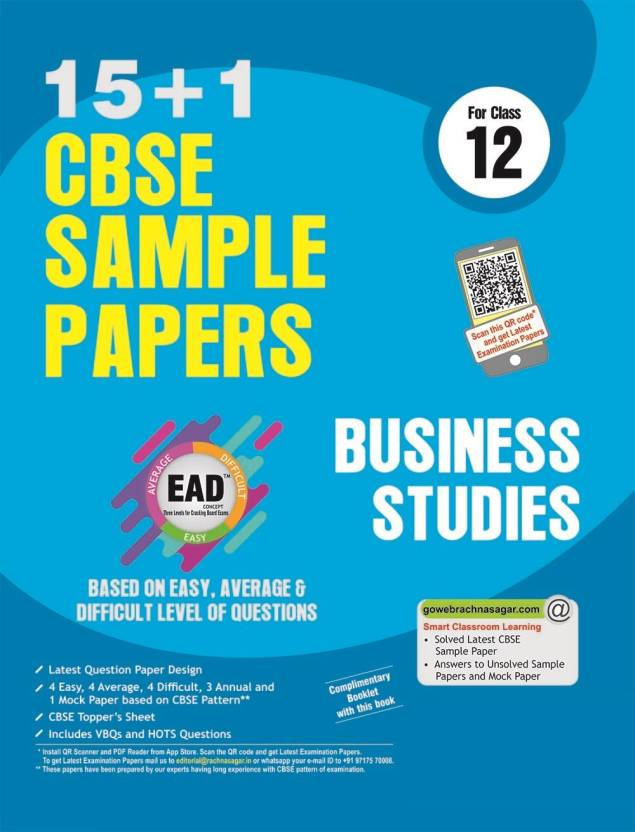 cbse business studies sample papers for class based on  cbse business studies 15 1 sample papers for class 12 based on easy