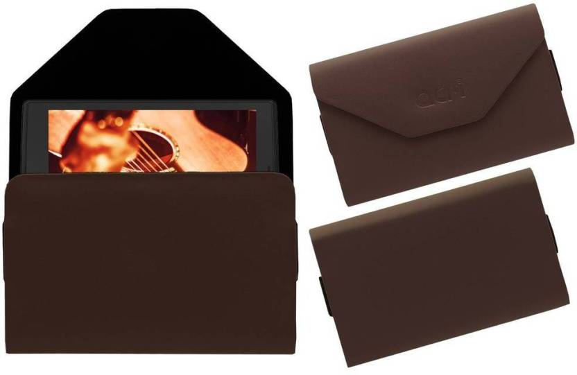 ACM Pouch for Micromax Canvas P681 Brown, Cases with Holder