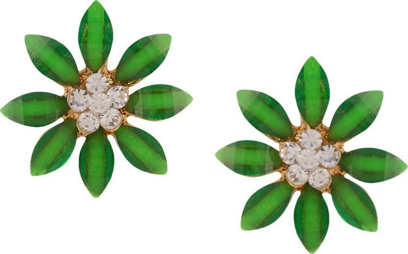 5b4a0ff5469 Flipkart.com - Buy Parna Fashion Yellow Gold Plated Green flower ...