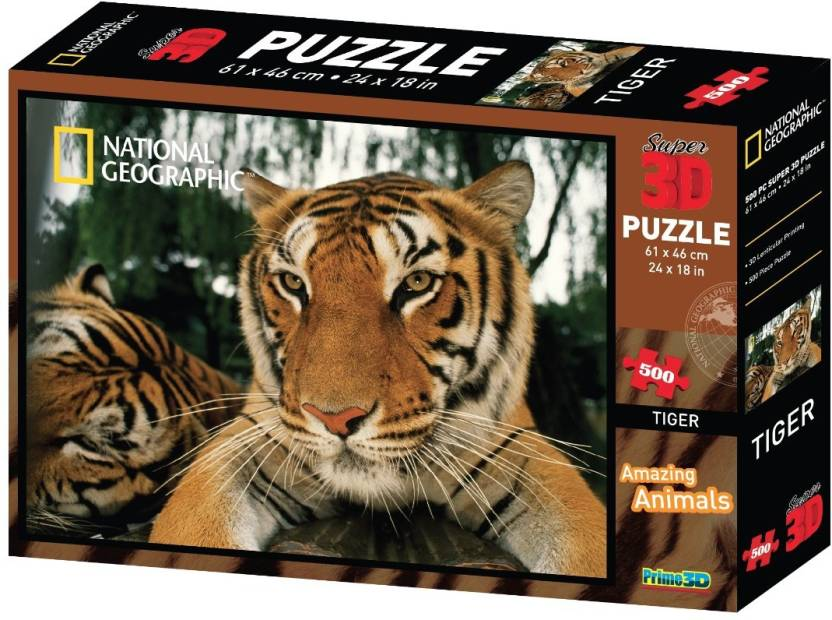 Prime 3d National Geographic Tiger Super 3d Puzzle National