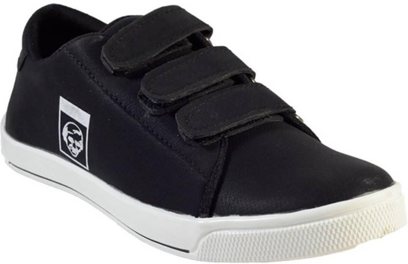 MarcoUno BLACK COLOUR VELCRO CASUAL SHOES Canvas Shoes For Men - Buy ... 074158676