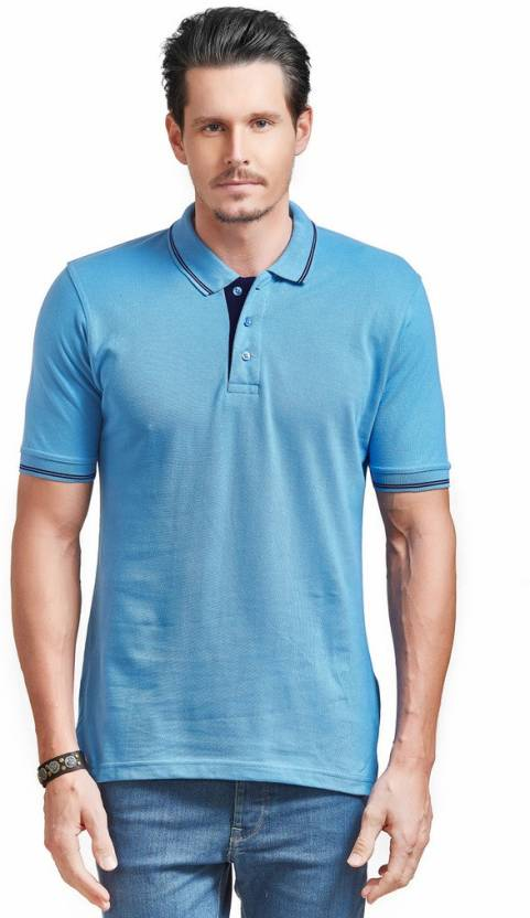 dcaa573a Ruffty Solid Men's Polo Neck Light Blue T-Shirt - Buy Ruffty Solid Men's  Polo Neck Light Blue T-Shirt Online at Best Prices in India | Flipkart.com