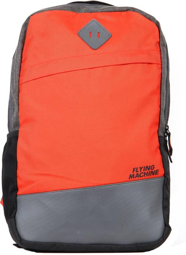 5e0882f7ed Flying Machine FMSB0040 24 L Laptop Backpack (Grey