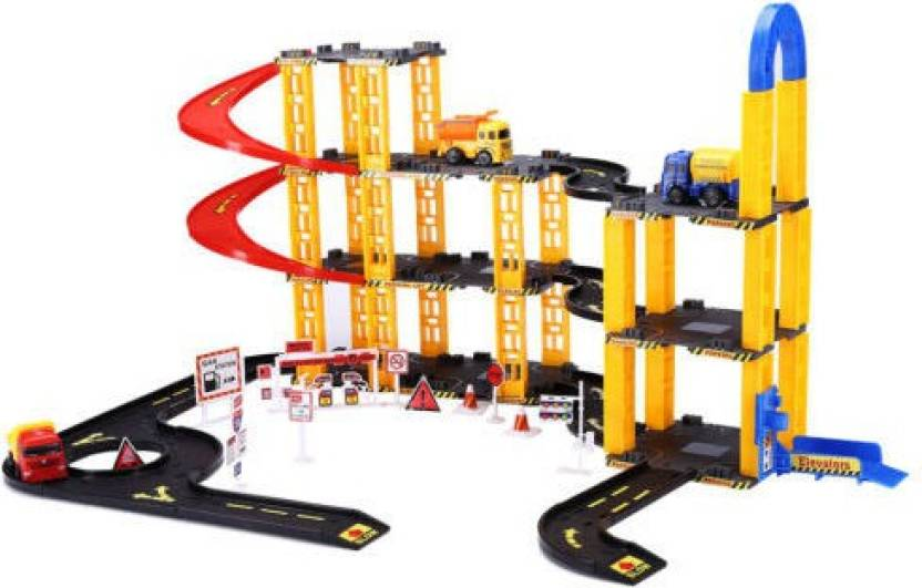 Generic 3D Parking Lot Play Set DIY Assembly Model Garage