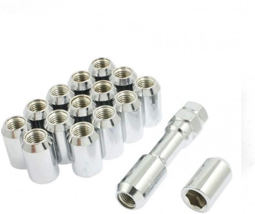 Silver Tuner Locking Wheel Nuts Set of 4 x M12 x 1.5