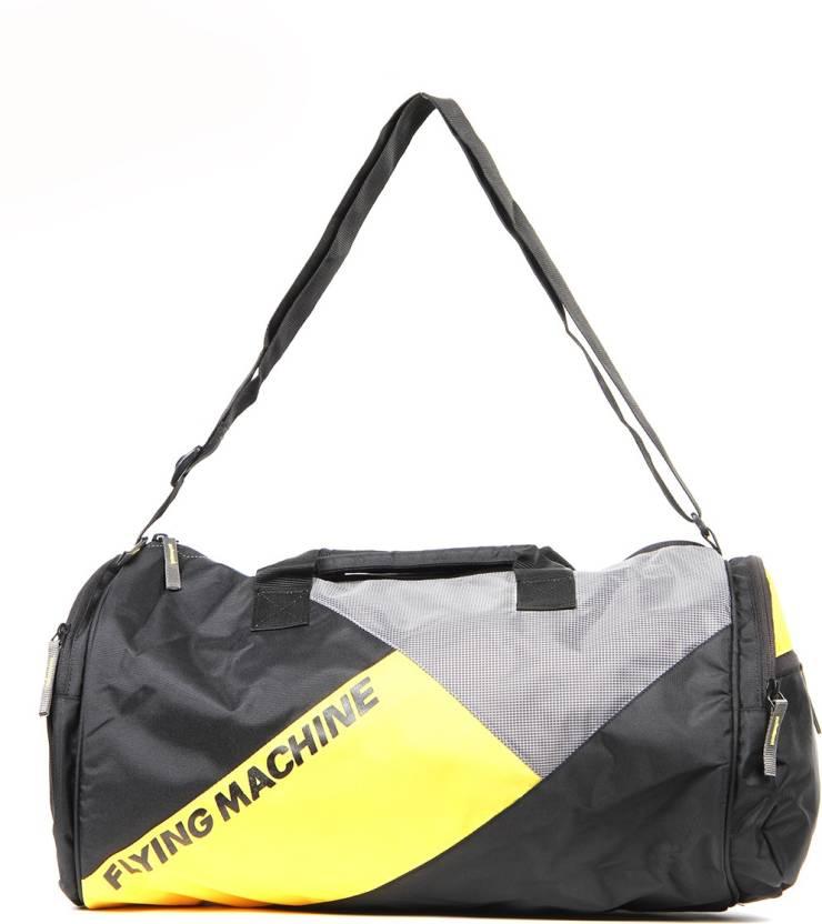 005f86d372 Flying Machine FMAB0720 Gym Bag (Black