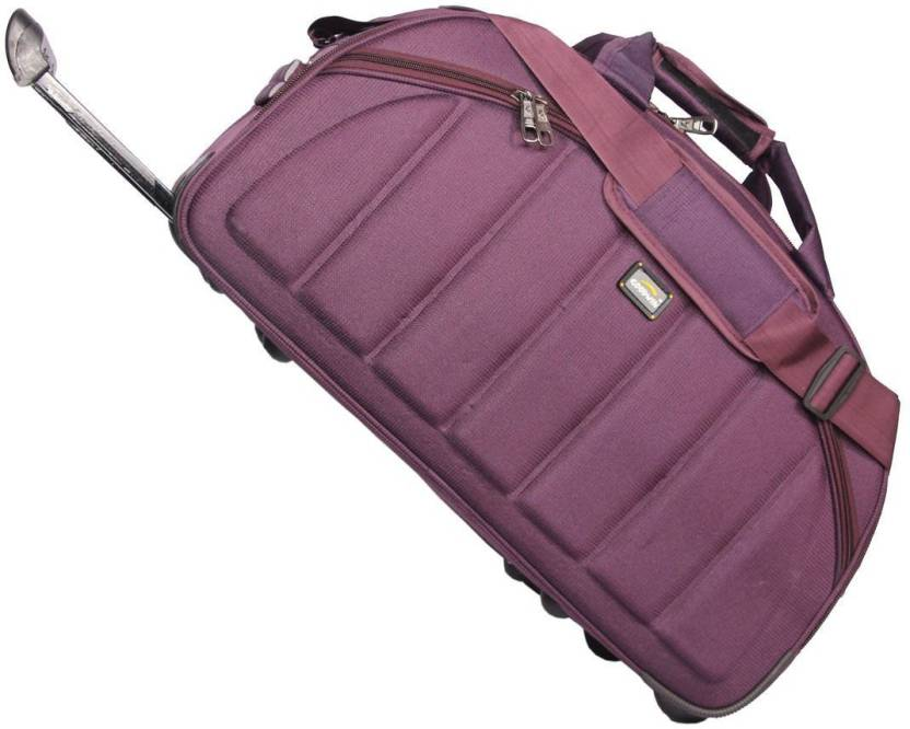 Goodwin 24 inch 60 cm (Expandable) Handcuffs Luggage Rolling Duffle trolley  bag 24 inch Travel Duffel Bag (Purple) b1b6b37d35d
