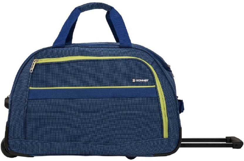Swiss (Expandable) Neu-Dt Blue Duffle 22 Inch Trolley Bags Duffel Strolley  Bag (Blue) 038fb9bc47d0f