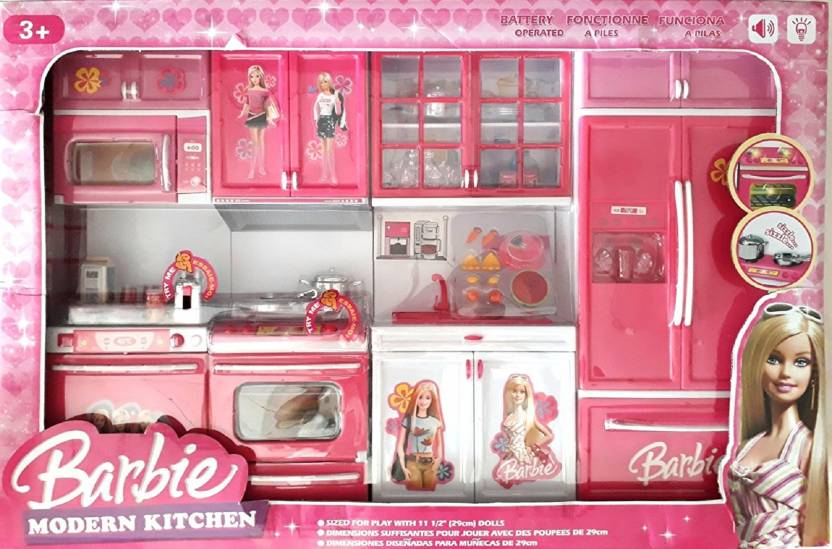 Dhawani Latest Premium Quality Kitchen Play Set In Pink Colour With