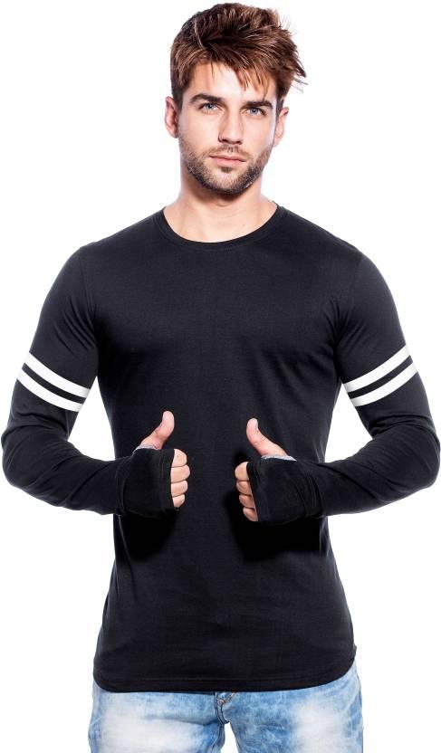 aa744132c4ba Maniac Color block Men Round Neck Black, White T-Shirt - Buy Black Maniac  Color block Men Round Neck Black, White T-Shirt Online at Best Prices in  India ...