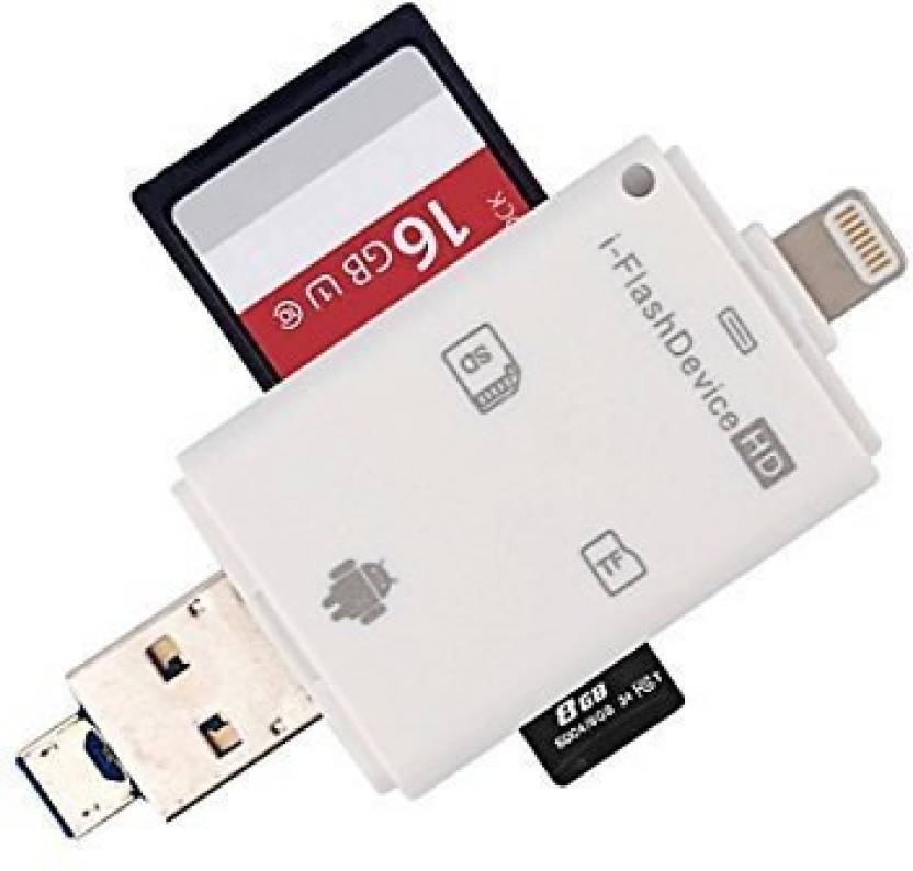 purchase cheap d1a43 4f2ca VibeX ™ iFlash Drive USB Micro SD SDHC TF OTG Card Reader for iPhone 8/8  Plus/7/7 plus/iPhone 6/6 Plus/iPhone 6s/6s Plus/iPhone 5/5s/ipad/MAC High  ...