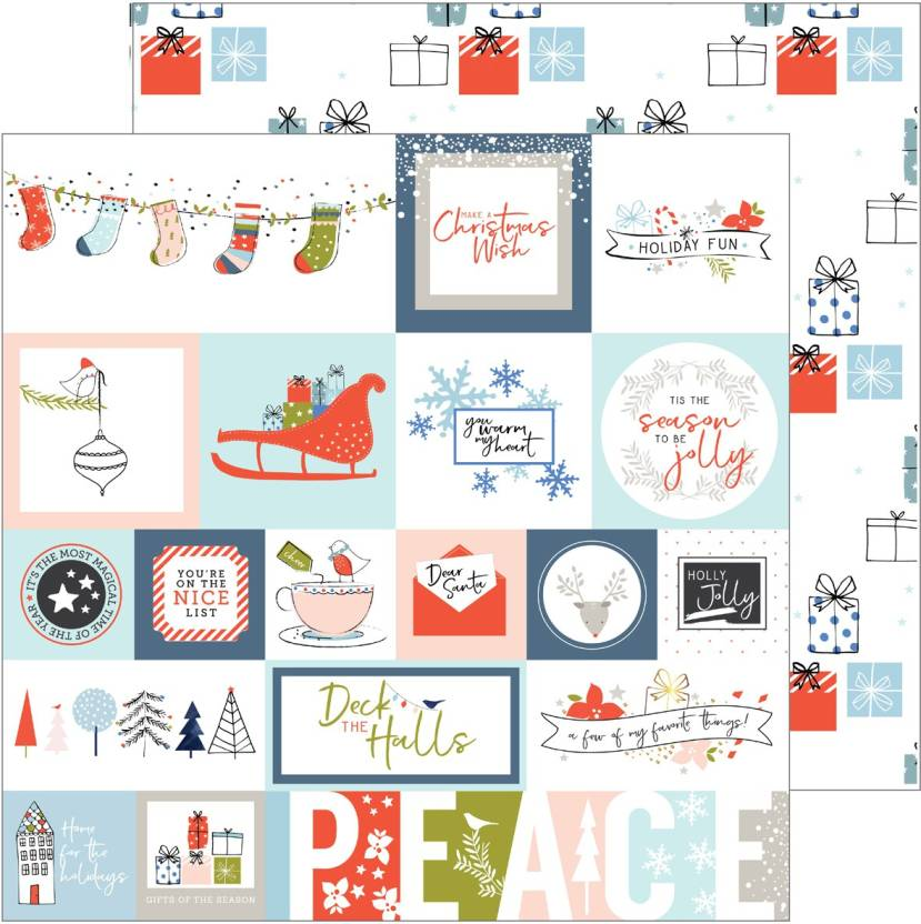 488347cfcc Pinkfresh Studio December Days Double Sided Cardstock 12