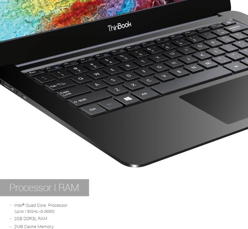 RDP ThinBook Atom Quad Core 8th Gen - (2 GB/32 GB EMMC Storage/DOS) 1430a Thin and Light Laptop(14.1 inch, Black, 1.36 kg)