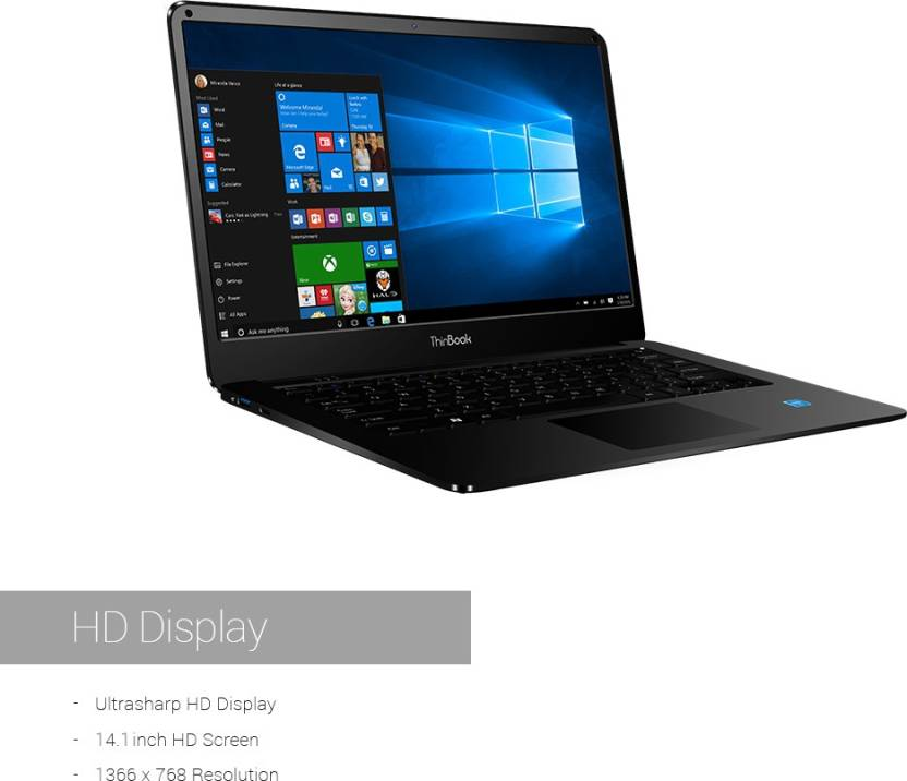 RDP ThinBook Atom Quad Core 7th Gen - (2 GB/32 GB HDD/Windows 10 Pro) 1430P Business Laptop(14.1 inch, Black, 1.45 kg)