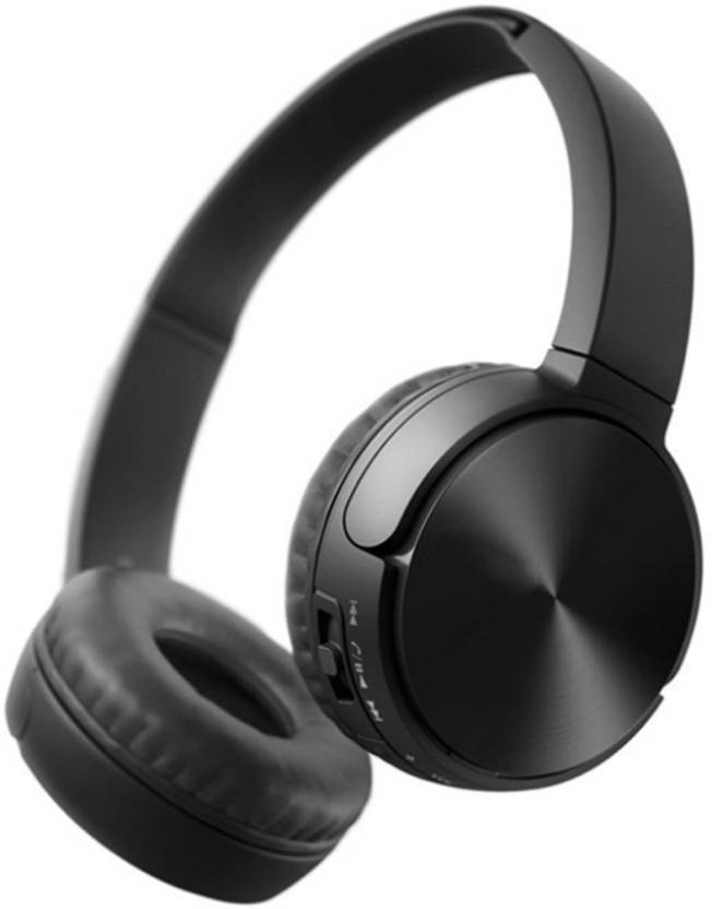 1ae6700d0bf ShopyBucket MS-881 (A) Foldable Headset Wireless_A4 Bluetooth Headset with  Mic (Black, Over the Ear)