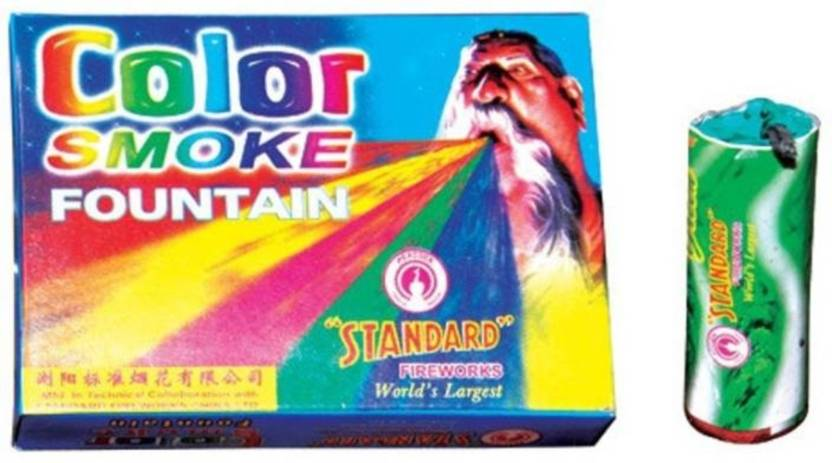 Indigo Creatives Set of 10 pieces Holi Rainbow Smoke Fog Air Color Gulal Party Celebration Holi Color Holi Color Powder Pack of 10  (Red, Yellow, Blue, Green, Pink, 250 g)- 60% OFF