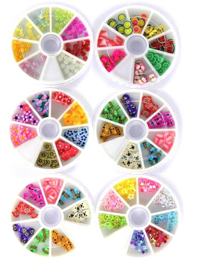 Savni Combo of 6 nail art pastings wheels-B - Price in India, Buy ...