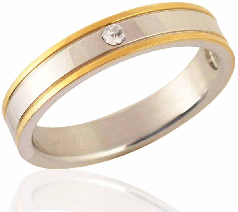 e3b7c76e14262 Sanaa Creations Mens Style Stainless Steel Silver,Gold Plated Mens ...