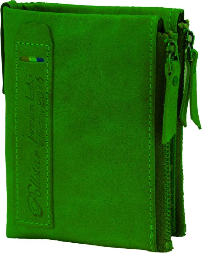 85929849c839 POLLSTAR Men Green Genuine Leather Wallet Green - Price in India ...