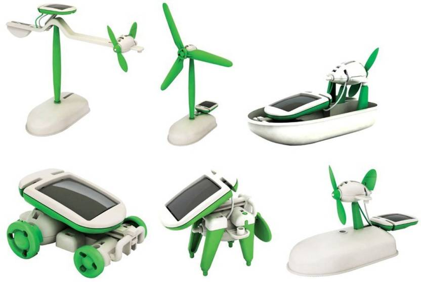 4713edc2256 Techhark Educational 6 in 1 Solar Power Energy Robot Toy Kit (Multicolor)