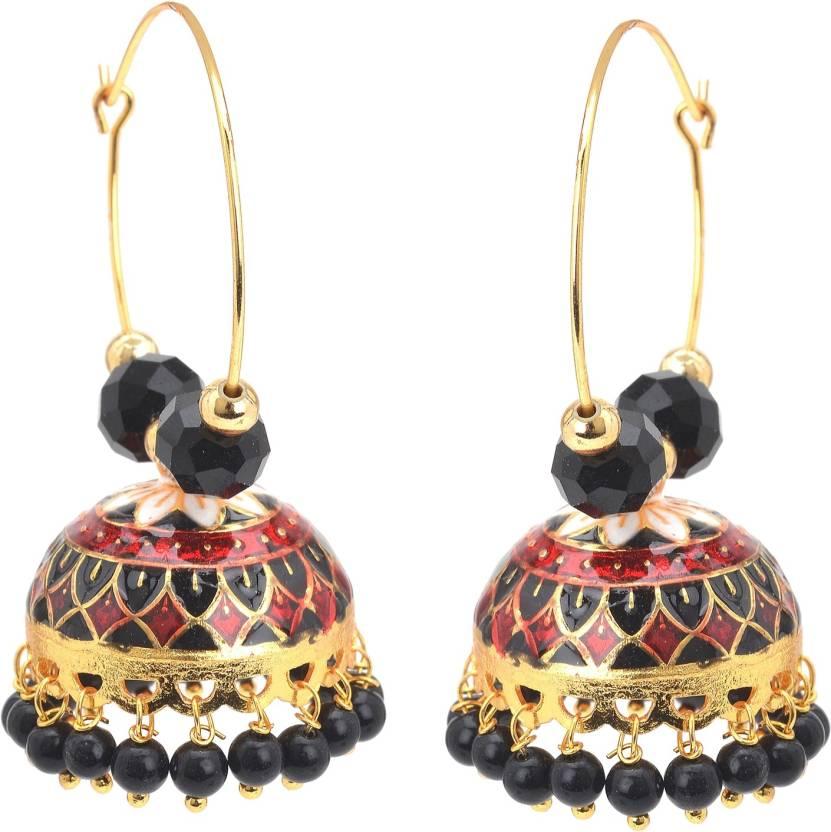 Zephyrr Traditional Jewellery Jhumki Hoop Meenakari Earrings For Girls and Women iiRvuasR