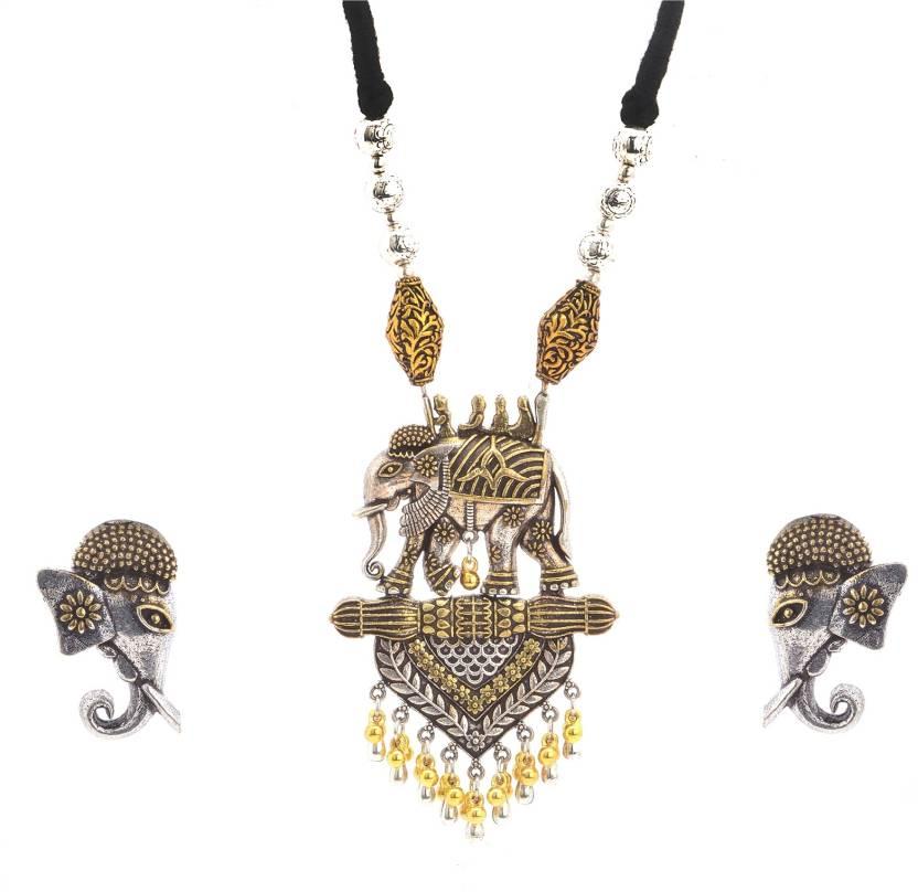 8b5623201 Zephyrr Fashion German Silver Elephant Beaded Pendant Necklace And Earring  Set Alloy Necklace Price in India - Buy Zephyrr Fashion German Silver  Elephant ...